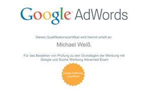 Qualifizierter Google AdWords-Spezialist